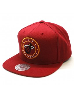 Miami Heat Twill Circle NBA Mitchell and Ness snapback red Cap