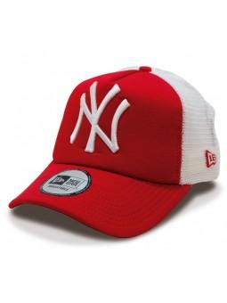 Gorra New York YANKEES Clean Trucker MLB New Era rojo/blanco