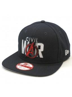 Gorra Civil War Marvel Avengers Liquid Chrome New Era negro