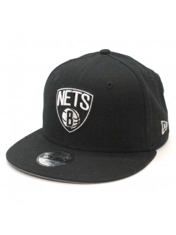 Gorra Brooklyn Nets NBA para Niños marca New Era tipo snapback negro