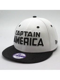 Capitan America Cap for Kids New Era 9fifty white black