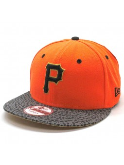 Gorra Pittsburgh Pirates MLB snapback New Era naranja neon