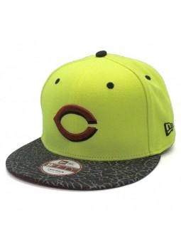 Cincinnati Reds MLB 9fifty New Era neon yellow cap