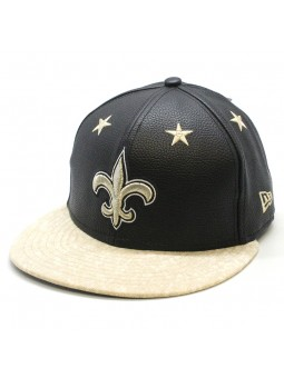 New Orleans Saints NFL Leather Roller New Era 9fifty Cap