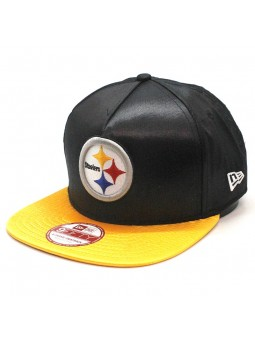 Gorra Pittsburgh Steelers NFL Team Satin New Era snapback negro