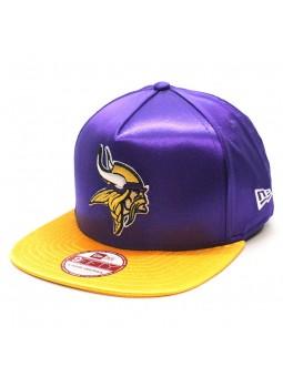 Gorra Minnesota Vikings NFL Satin Team New Era snapback lila