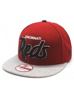 Cincinnati Reds MLB New Era Team Script Heather snapback red cap