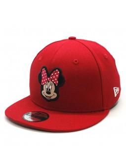 Gorra Minnie Mouse Walt Disney New Era snapback roja para niños