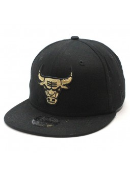 Gorra Chicago Bulls NBA New Era 9fifty negra para niños