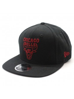 Chicago Bulls NBA New Era Chainstitch snapback black cap