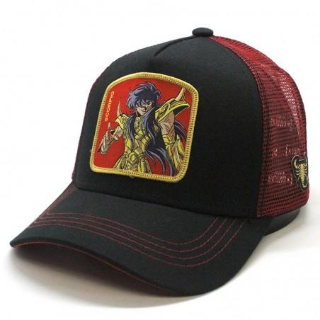 "Saint Seiya ""SCORPIO"" black/red trucker Capslab Cap"