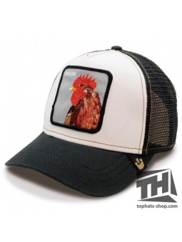 "Gorra Goorin Bros PLUCKER ""GALLO"" trucker blanco/negro"