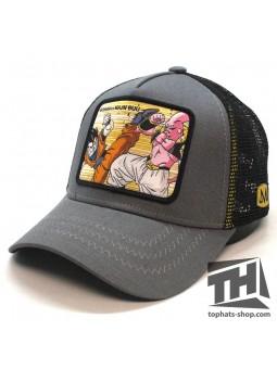Gorra de rejilla MAJIN BUU vs GOHAN Dragon Ball gris/negro Capslab