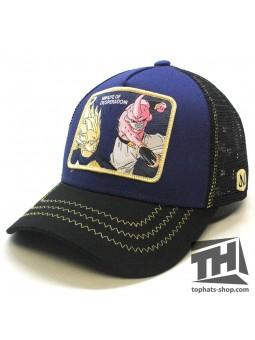 Gorra de rejilla MAJIN BUU vs VEGETA Dragon Ball marino/negro Capslab