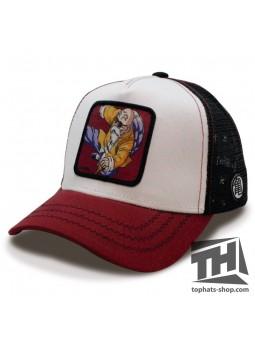 Kame Sen'nin Dragon Ball white/cardinal/black trucker Cap Capslab
