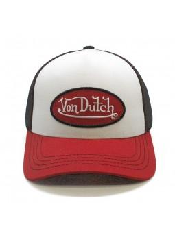 Gorra Col Bbr Von Dutch blanco rojo negro trucker