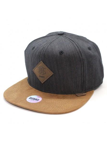 DJINNS SB Linen black/brown cap