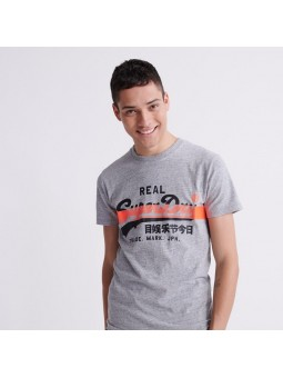 Vintage Logo Cross Hatch SUPERDRY grey T-Shirt
