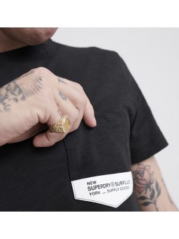 Surplus Goods SUPERDRY black T-Shirt