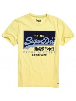 Camiseta SUPERDRY Vintage Logo amarillo