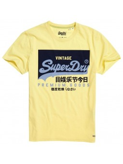 Vintage Logo SUPERDRY yellow T-Shirt