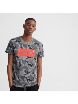 Camiseta SUPERDRY Core Logo gris camuflaje