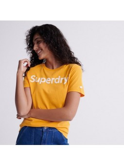 Flock SUPERDRY yellow women T-Shirt