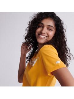 Flock SUPERDRY yellow women T-Shirt
