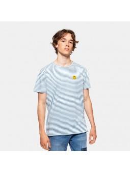 Camiseta REVOLUTION SMILE 1166 white/light blue