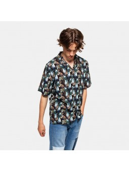 REVOLUTION with ALL-OVER 3756 brown shirt