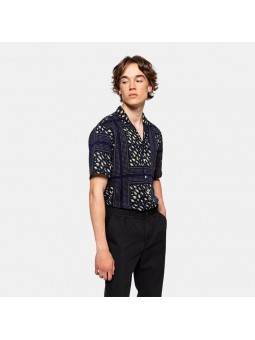 REVOLUTION with ALL-OVER 3754 navy shirt