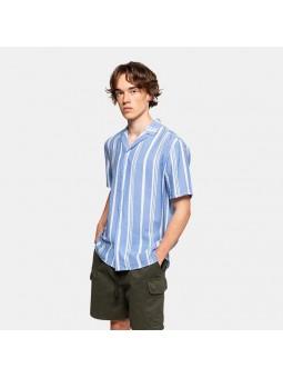 REVOLUTION STRIPE 3748 light blue shirt