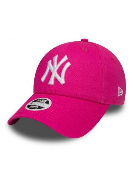 Gorra de Mujer New York YANKEES MLB League Basic 9Forty New Era rosa