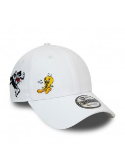 Looney Tunes Piolin and Silvestre New Era 9forty white Cap