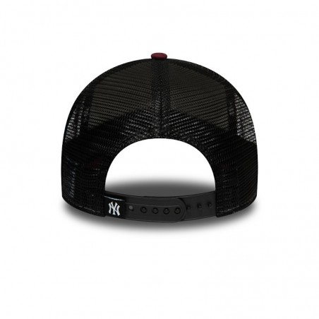 New York YANKEES MLB Twine New Era trucker maroon cap