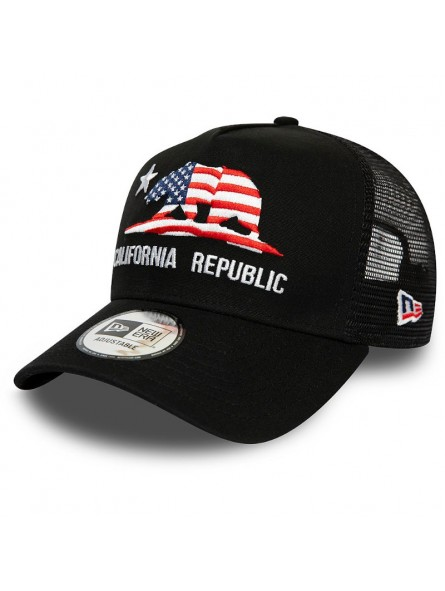 California REPUBLIC Canvas New Era trucker black cap