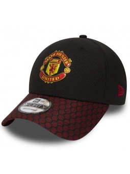 Manchester United Hex Weave Vise 9Forty New Era black red Cap