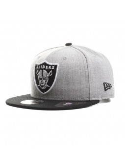 Gorra Oakland RAIDERS NFL Team Heather 9FIFTY gris/negro