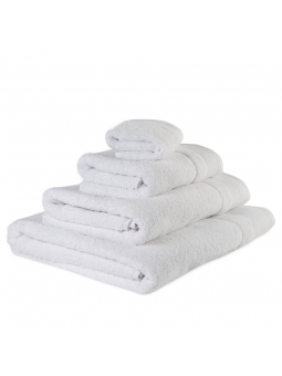 Towels GOLD white colour