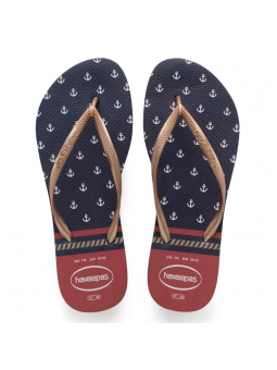 Chanclas de Mujer HAVAIANAS SLIM NAUTICAL Marino