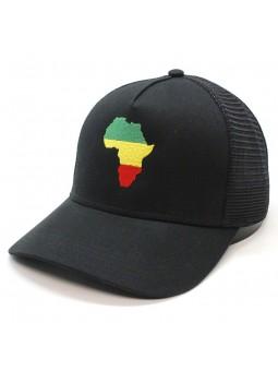 Gorra de rejilla Top Hats AFRICA negro
