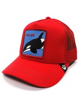 Killer Goorin Bros Patch Animal Farm trucker red Cap