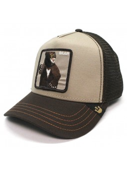 "Goorin Bros ""LONE STAR"" Bear trucker camel/brown cap"