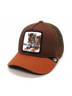 TIGER WILD Goorin Bros brown Kid Cap