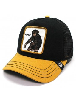 "Gorra Goorin Bros KING OF THE JUNGLE ""GORILLA"" trucker gris oscuro"