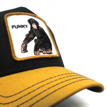 "Goorin Bros KING OF THE JUNGLE ""GORILLA"" dark grey trucker cap"
