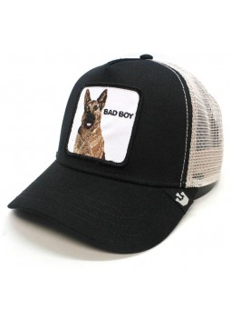 "Goorin Bros BOUNCER ""Bad Boy"" black/beige trucker cap"