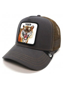 Gorra Goorin Bros EYE OF THE TIGER trucker gris oscuro