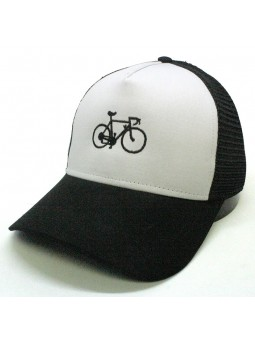 Top Hats CYCLE white/black trucker Cap