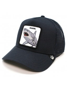 Goorin Bros DUNNAH SHARK Animal Patch trucker navy cap